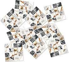Briday - Mosaic Tile Sticker 3D Removable Self