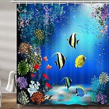 Briday - Ocean Underwater Shower Curtain for Kids