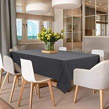 Briday - Rectangle Table Cloth - Grey Washable