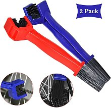 Briday - Red and Blue Bicycle Chain Cleaning Brush