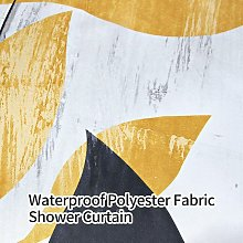 Briday - Rustic Shower Curtain for Bathroom Yellow