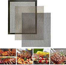 Briday - Set of 3 Barbecue Cooking Mats, Non-stick