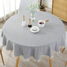 Briday - Simple Nordic Style Tablecloth, Round