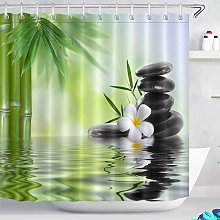 Briday - Spa Shower Curtain with Hooks, 180 x 180