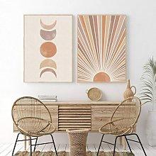 Briday - Sun and Moon Art Print Sunrise Abstract