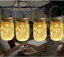 Briday - Suspended Solar Mason Jar Lid Light, 4