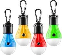 Briday - Tent Lamp Portable LED Tent Light 4 Packs