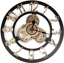 Briday - Vintage Wall Clock, 3D Roman Numeral Wall