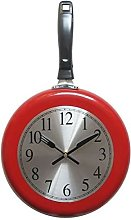 Briday - Wall Clock, 10 inch Metal Frying Pan