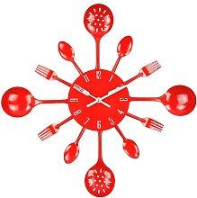 Briday - Wall Clock, 16' Metal Kitchen Cutlery