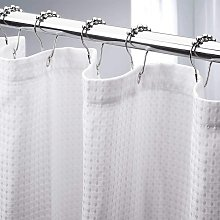 Briday - White Shower Curtain for room Extra Long