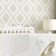Briday - White Wallpaper,3D Vintage Wallpaper
