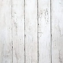 Briday - White Wood Wallpaper Wood Peel and Stick