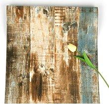 Briday - Wood Wallpaper Self Adhesive Brown