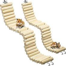 Briday - Wooden Pet Ladder Bridge 2 Pieces Soft
