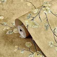 Briday - Yellow Wallpaper,3D Floral Wallpaper