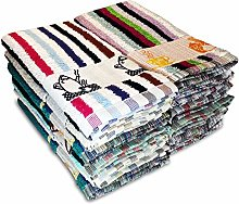 briebe Home 12 Terry Tea Towels 100% Cotton, 50 x