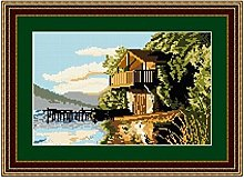 Brigantia Needlework Ullswater Boathouse Tapestry