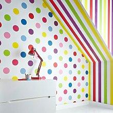 Bright 10m x 52cm Matte Wallpaper Roll East Urban
