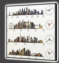 BRIGHT Clock WORLD CITY GL6798 PINTDECOR