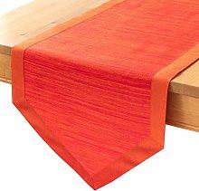 Bright Orange Round Table Runners (14x72 inch,