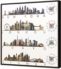 BRIGHT watch CITY FROM THE WORLD GL3546 PINTDECOR