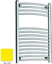 Bright Yellow 800mm x 500mm Curved 22mm Towel Rail