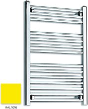 Bright Yellow 800mm x 600mm Straight 22mm Towel