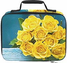 Bright Yellow Rose Banquet Beach Cooler Insulated