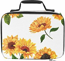 Bright Yellow Sunflower Adult Lunch Bag Insulated