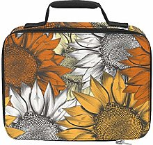 Bright Yellow Sunflower Cooler Bag Insulated