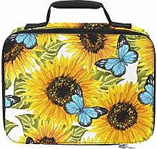 Bright Yellow Sunflower Cooler Lunch Bags for Work