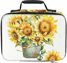 Bright Yellow Sunflower Travel Cooler Insulated