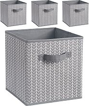 BrillantJo Fabric Storage Box, Set of 4 Foldable