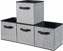BrillantJo Fabric Storage Box, Set of 4 Organiser