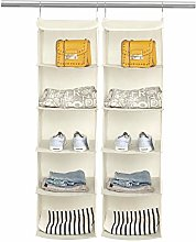BrilliantJo 2 PCS Hanging Wardrobe Closet Storage