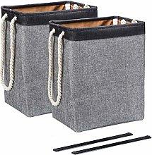 BrilliantJo 2 PCS Laundry Baskets, Collapsible