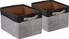 BrilliantJo 2 PCS Storage Box with Leather