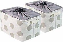 BrilliantJo 2 PCS Storage Boxes with Drawstring