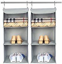 BrilliantJo Hanging Storage with 3 Shelves, Set of