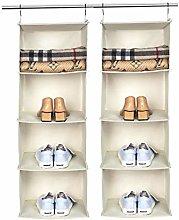 BrilliantJo Hanging Storage with 4 Shelves, Set of