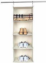 BrilliantJo Hanging Storage with 4 Shelves