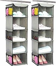 BrilliantJo Hanging Storage with 5 Shelves Set of