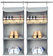 BrilliantJo Hanging Wardrobe Closet Storage with 3