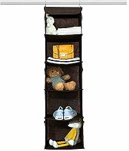 BrilliantJo Hanging Wardrobe Closet Storage with 5