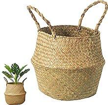 BrilliantJo Seagrass Basket, Belly Plant Pot