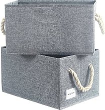 BrilliantJo Set of 2 canvas Storage Boxes with