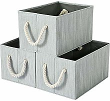BrilliantJo set of 3 Storage Boxes with Cotton
