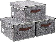 BrilliantJo Set of 3 Storage Boxes with Lid,