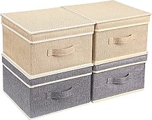 BrilliantJo Storage Boxes with Lid, Foldable